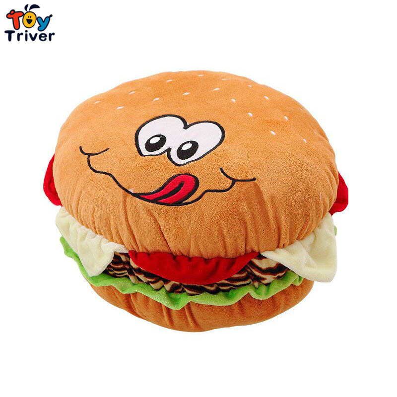 Plush Simulation Hamburger Pillow Cushion Sleeping Toy