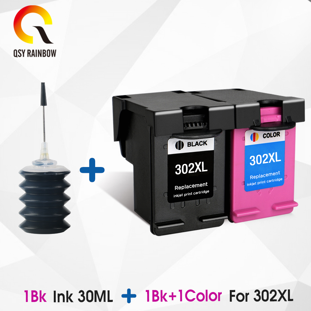 CMYK SUPPLIES 302XL Compatible Cartridge Replacement For HP 302 HP302 XL Ink Cartridge For  Hp Deskjet 3630 E-All-in-One Printer