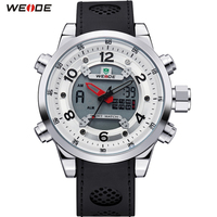 WEIDE Sport Watch Brand Dual Time Zone Men Quartz Digital Multimeter Waterproof Outdoor Military Dress Watches