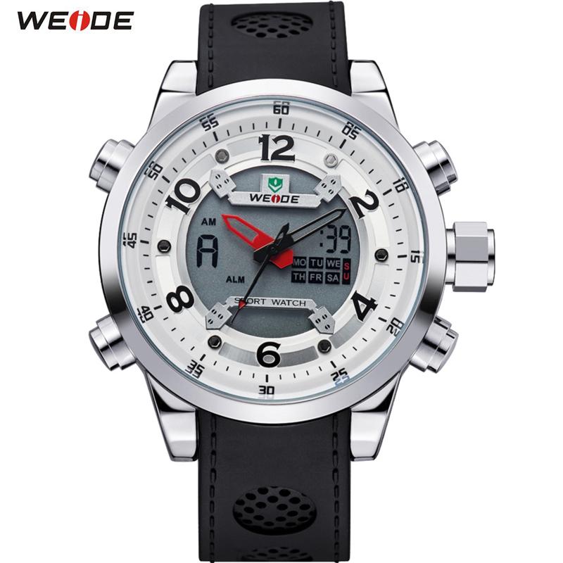 Prix pour WEIDE Sport Montre Marque Dual Time Zone Hommes Quartz Numérique Multimètre Extérieure Imperméable Militaire Robe Montres Hommes Montre-Bracelet