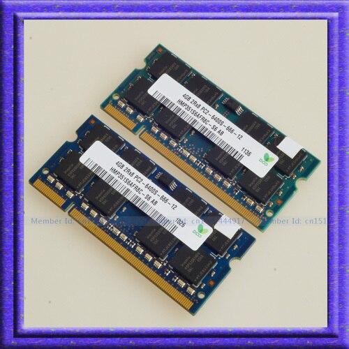 Prix pour NOUVEAU 8 GB 2x4 GB DDR2-800 PC2-6400 800 MHZ 200pin ddr2 800 SO-DIMM 200-PIN 4G NON ECC RAM MÉMOIRE d'ordinateur portable Notebook sodimm RAM
