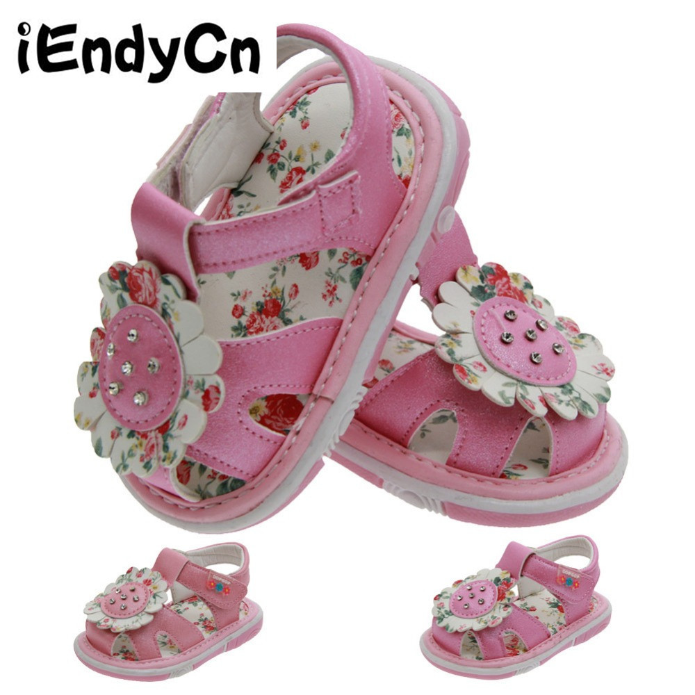 iEndyCn Baby Shoes Girls First Walkers Soft Rubber Sole Baby Summer Princess Baby Toddler first walks LMY201YDR