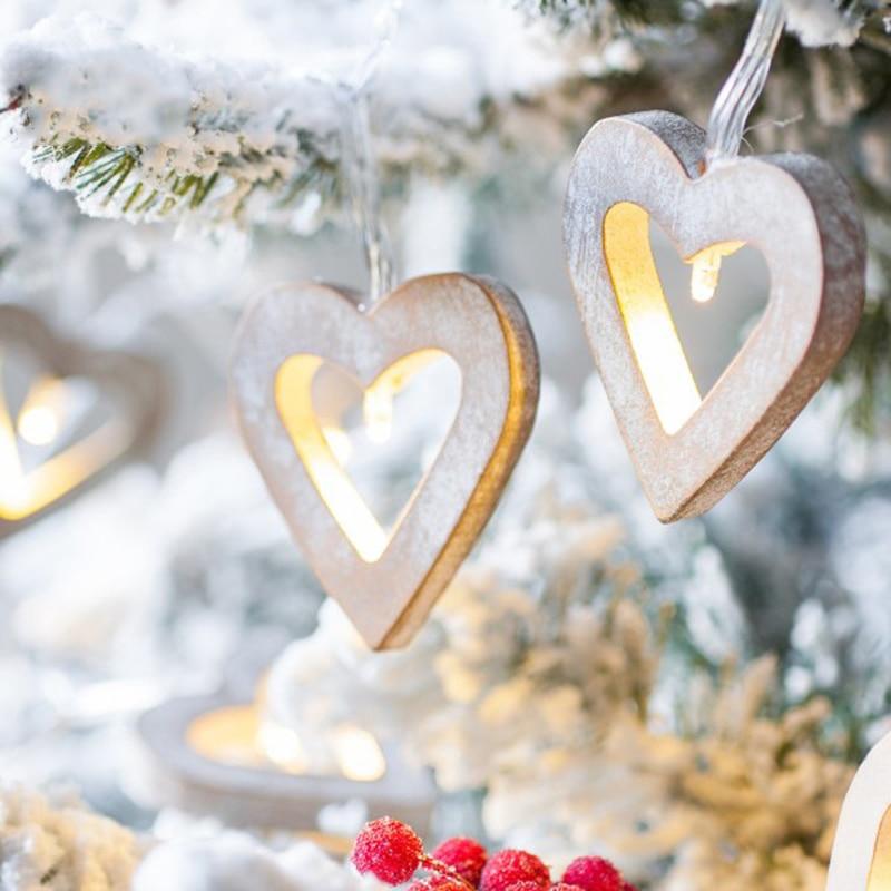 Vintage shabby wedding decoration european white wooden - String lights living room ...