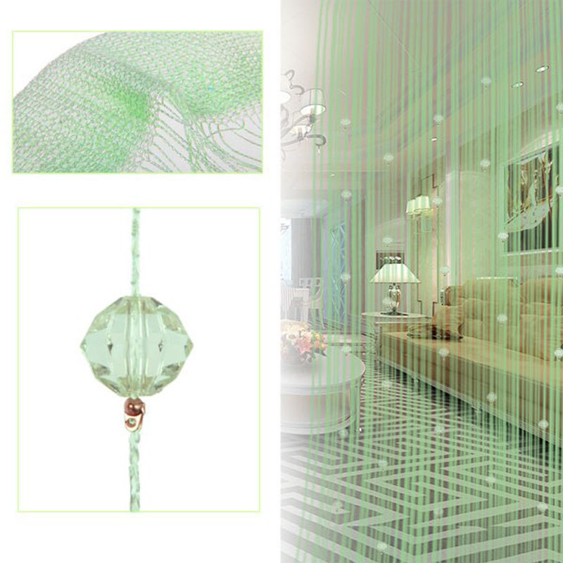 10 Colors 100 200 CM Window String Curtain For Living Room Home Decoration Crystal Door Blinds VBJ31 T10