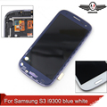 Lcd para i9300 samsung galaxy s3 i9300 lcd screen display touch com digitador assembléia branco/azul
