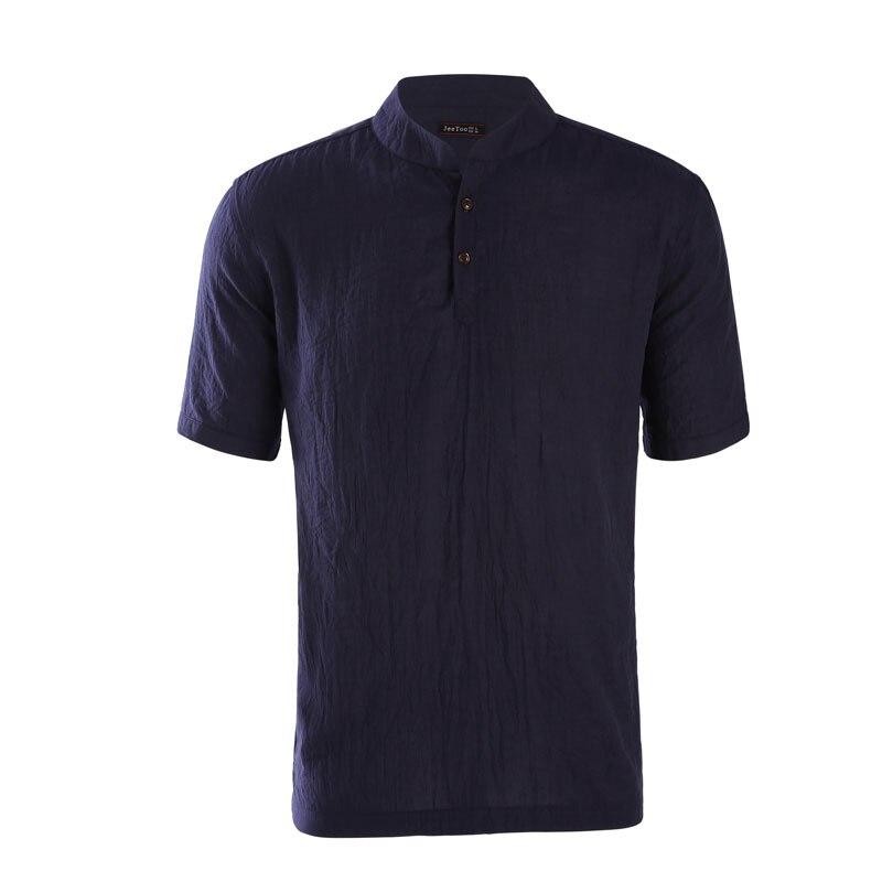 Brand New Solid Shirt Men Regular Short Sleeve Slim Fit Mens Clothing Linen Mens Shirts Casual Camisa Masculino 2018 K163-K168