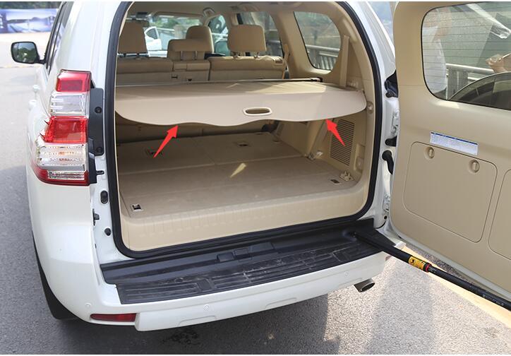 Rear Back Trunk Cargo Cover Security Shield Beige For Toyota Land Cruiser Prado FJ150 2010-2018 все цены