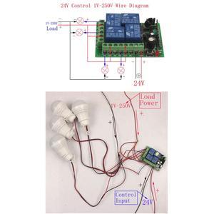 Image 4 - Sleeplion 100 Metre 24V 4CH uzaktan kumandalı anahtar Elektrikli kapı uzaktan kumandası Anahtarı Evrensel 24V 4CH 315 MHz/433 MHz Alıcı