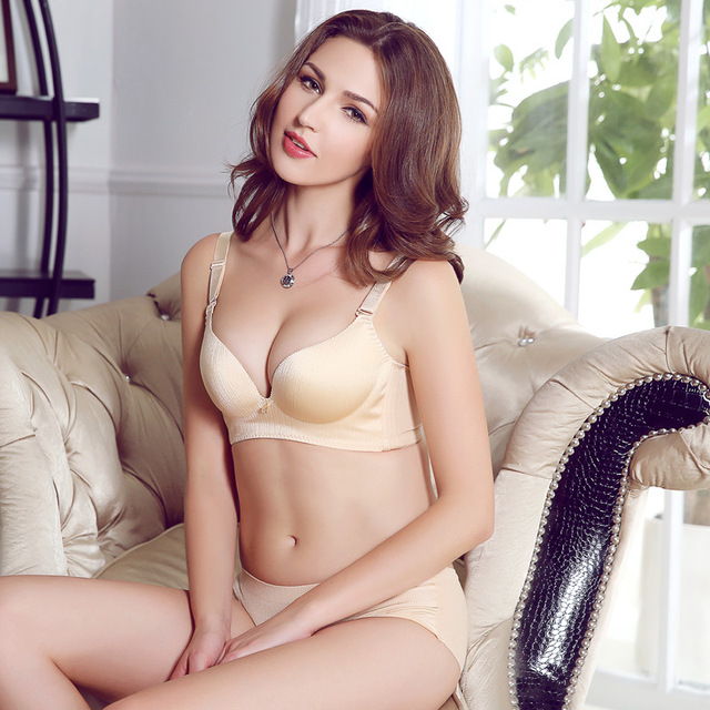 5a657d2b51 Gather side comfortable close without rims bra brassiere thickness-in ...