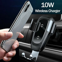 Automatic Clamping Qi Wireless Car Charging Charger Mount Air Vent Phone Holder For iPhone x xr xs max 8 8p Samsung S10 S10+ S9|Car Chargers|   -