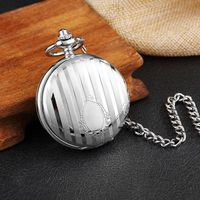 Antique Carved Silver Case Mechanical Pocket Watch Double Flip Cover Skeleton Steampunk Pendent Necklace Fob Chain Watch 2018