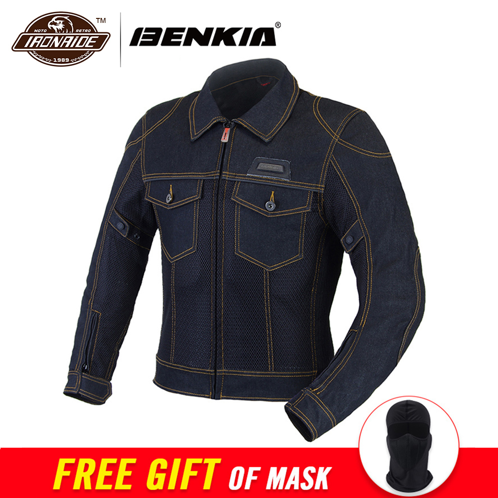 BENKIA 2019 мотоциклетная куртка весна лето Мужская джинсовая куртка мото джинсы для мотобайка куртки верхняя одежда куртки Jaqueta Motoqueiro