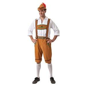 Image 3 - איש גרמניה אוקטוברפסט תלבושות פנטזיה נשים בוואריה באר Featival Cospaly שמלת למבוגרים זוג מסיבת מטליות עוזרת בתוספת גודל