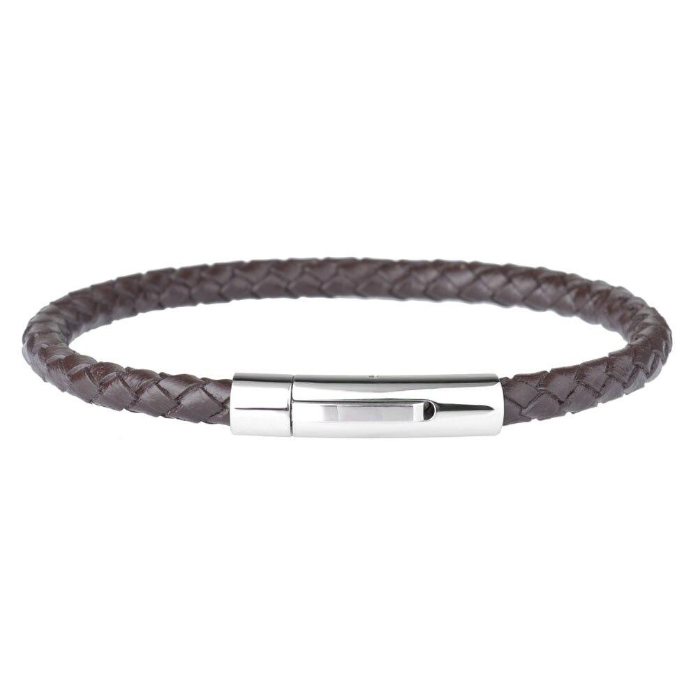 Kirykle-Bracelet en cuir véritable pour hommes et femmes, breloque tressé en acier inoxydable, bijoux, offre spéciale 2
