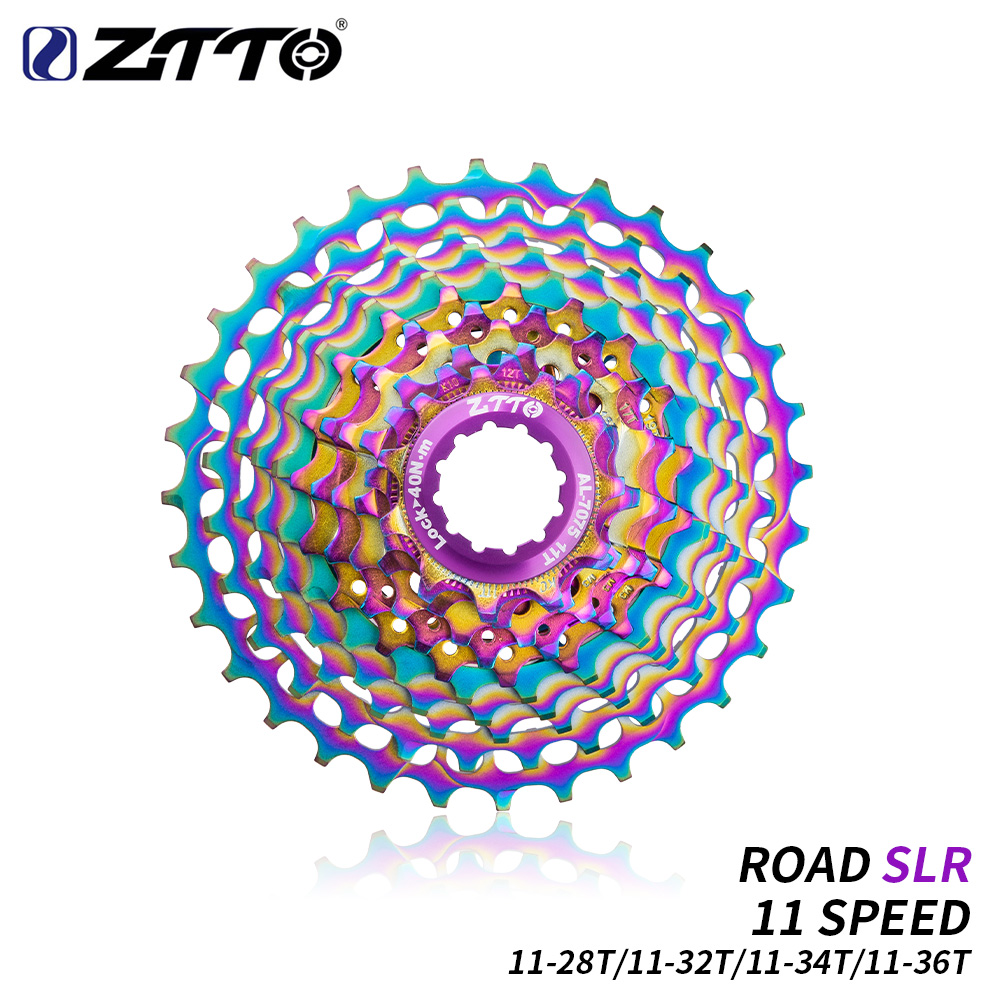 ZTTO COLORFUL SLR CNC Road Bike 11 Speed 11 28 32 34 36T Bicycle Cassette Gravel