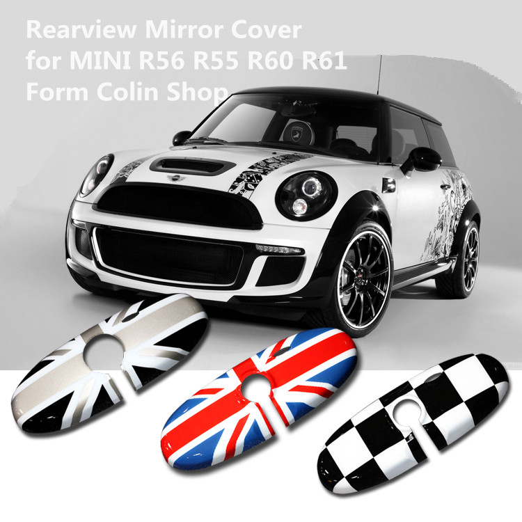 car abs red union jack rearview mirror cover decoration accessories For mini cooper s R55