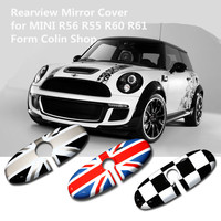 car pc gold red union jack rearview mirror cover decoration accessories For mini cooper s R55 R56 styling 2007 2013