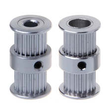 цена на GT2 pulley type double head GT2 20 teeth 6mm width bore 5& 8mm timing pulley for GT2 Timing belt 3D printer part