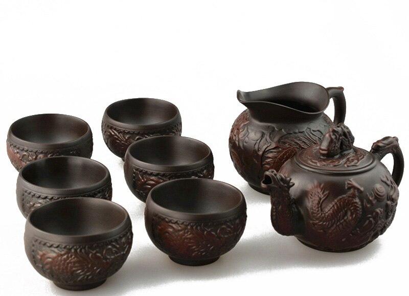 Precious 8 Pcs Kung Fu Tea Set Teapot With Serving Cup 6
