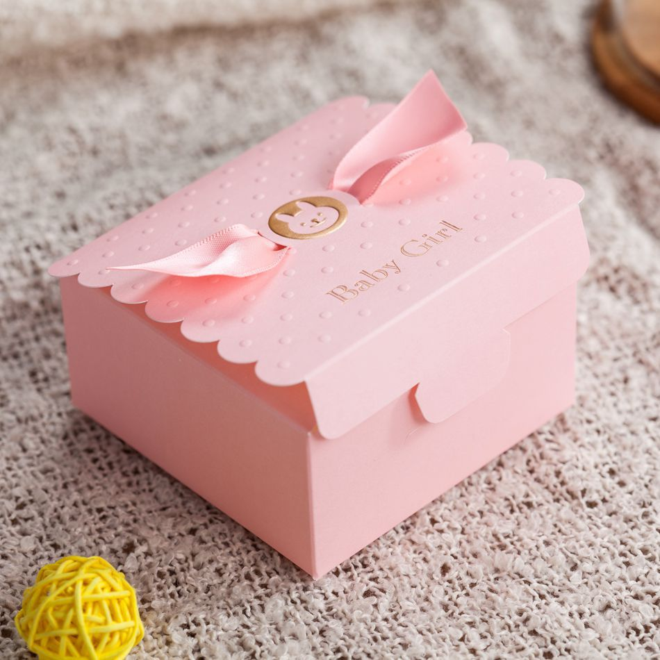 Pink Baby Shower Party Favor Boxes Cheap Favor Boxes Wholesale with ...