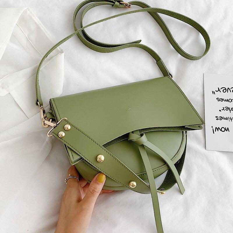 Elegant Female Tote Saddle Bag 2019 Fashion New High Quality PU Leather Women's Designer Handbag Travel Shoulder Messenger Bag
