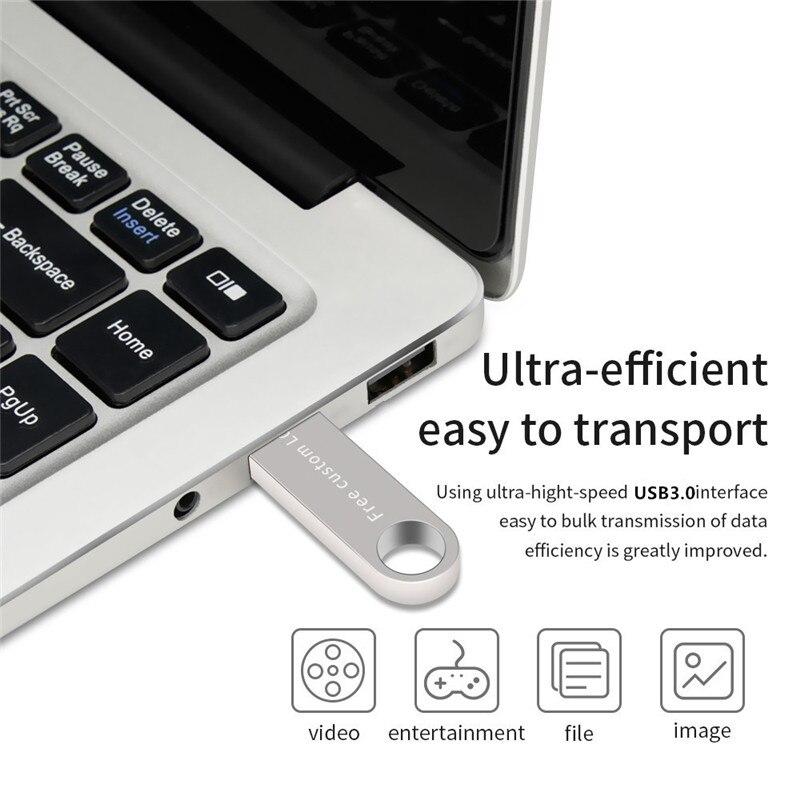 2019 usb stick high speed black key 128gb 3.0 usb flash drive 4gb 8gb 16gb 32gb 64gb flash disk waterproof metal Free print LOGO (2)