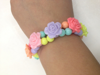 Newest fashion Jewelry Vintage Elasticity Rose Flower slake bracelet for women jewelry