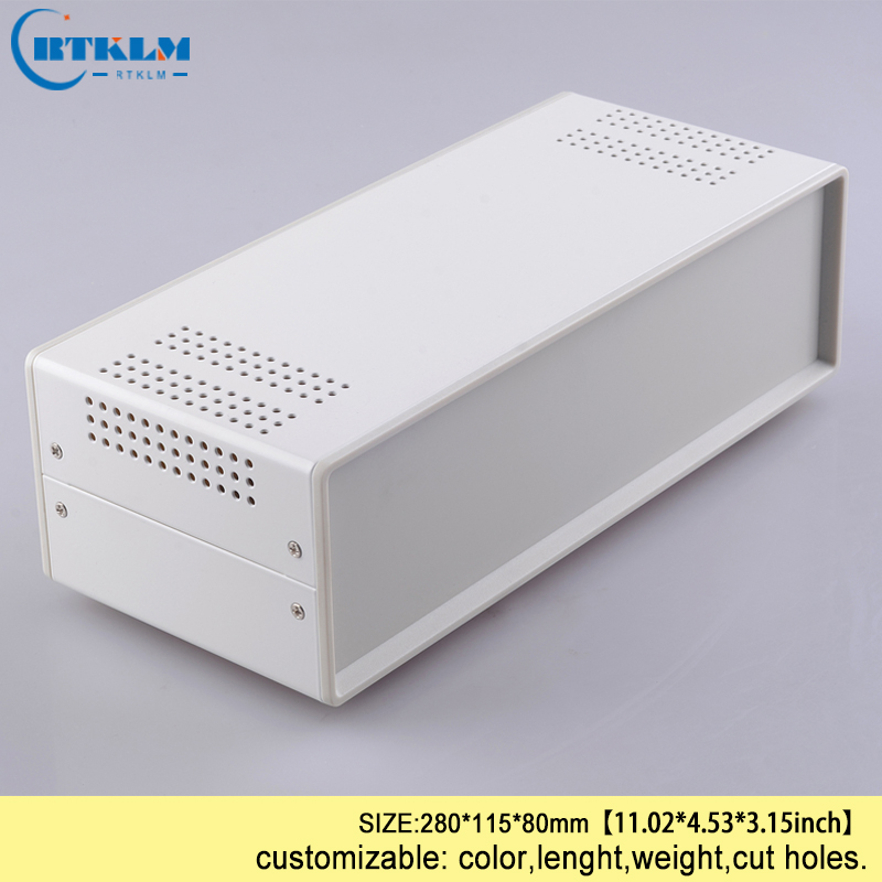 Iron Electrical Project Housing Wire Connection Box DIY Control Outlet Box PCB Design Instrument Case Junction Box 280*115*80mm