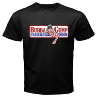 2018 Crossfit T Shirts Bubba Gump Forest Shrimp Seafood Co Eighties T Shirt Black Basic Tee