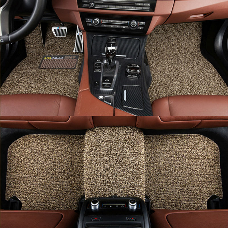 Myfmat new car floor mats auto rugs set double layer for FIAT Palio Weekend Siena Perla CITROEN Elysee Picasso quatre triomphe