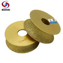 RIJILEI 74mm*20*10-40 Brazing Diamonds Marble Sanding Disc Round edge Grinding wheel Angle Grinder stone edging discs MX46