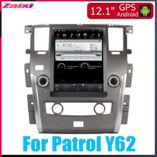 ZaiXi 12.1 Vertical screen android car gps multimedia video radio player in dash for Nissan Patrol Y62 2010~2019 navigaton