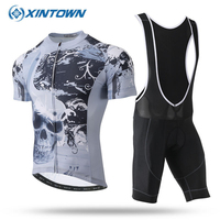 XINTOWN Cycling Jersey Sets Men Ropa Ciclismo Pro Mountain Bike Bicicleta Short Sleeve Summer 6 Style Hot Selling Clothing