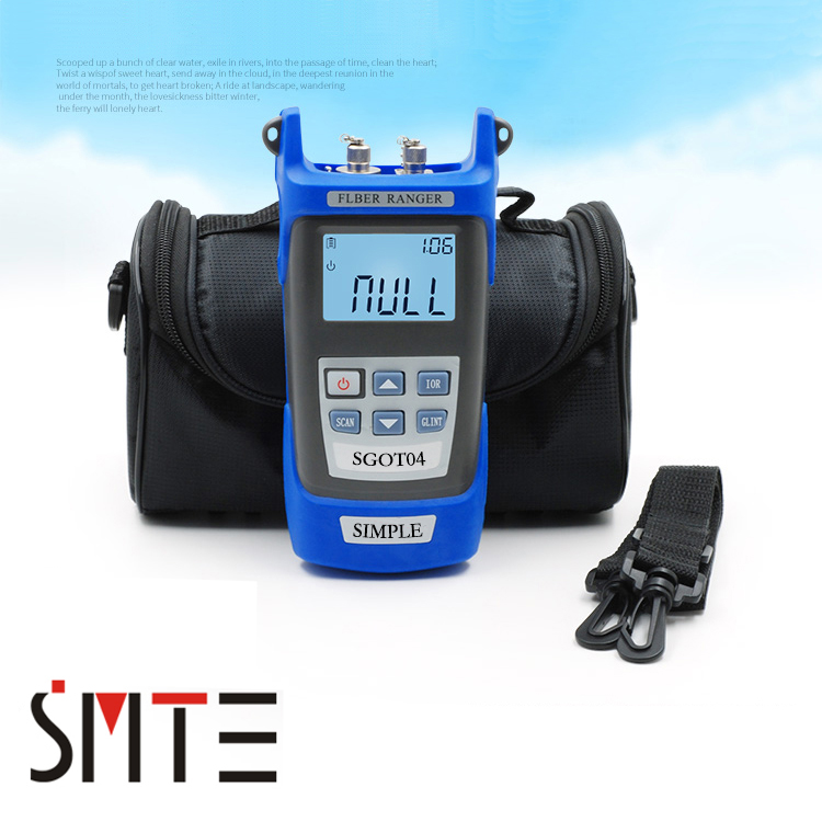 SeemeTech SGOT04 Handheld OTDR 60KM Fiber find fault tester 1310or1550nm Fiber breakpoint detector with VFL FC