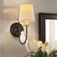 País da américa aves antigo lâmpada de parede sala de estar quarto lâmpadas a cabeça de uma cama lâmpada de parede lâmpada de parede adorno luz