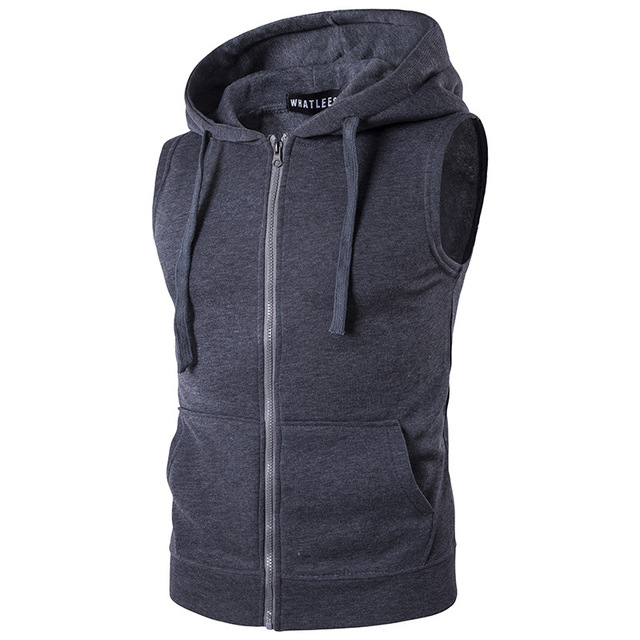 Sleeveless Cotton Hoodie