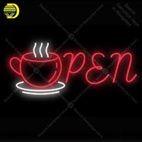 Neon Signs Gift OPEN Cup club GLASS Affiche sport icons light Handcraft Publicidad anuncio luminoso Light Advertisement Dropship