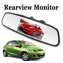 """Horizon univeral 4.3 pulgadas tft lcd a color de coche espejo retrovisor del coche monitor de 4.3 """"de visión trasera aparcamiento monitor de reversa de reserva cámara"""