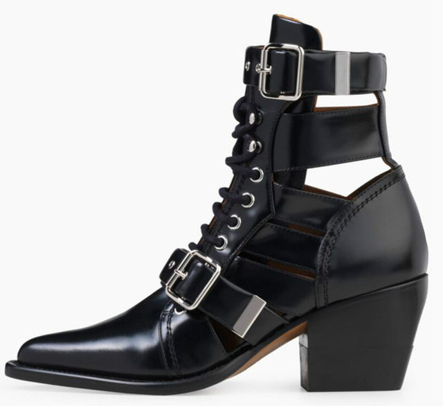 ladies chaussure women genuine leather pumps shoes woman zapatos mujer sapato ankle boots chunky high heels booties XZ180348