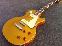 Free shipping gold top electric font b guitar b font lp standard electric font b guitar