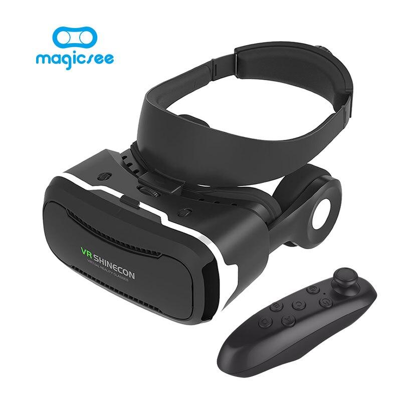 Shinecon 4.0 vr vr gafas de realidad virtual google cartón con auriculares + blu