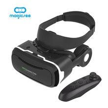Vr shinecon 4.0 VR Очки виртуальной реальности Google cardboard с наушниками + bluetooth геймпад для 4.5-5.5 дюймов смартфон