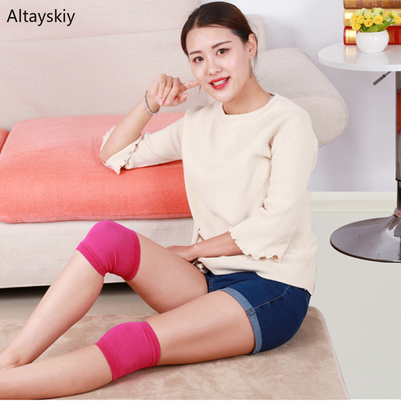 Knee Sleeve Women Thin Breathable Soft All-match Solid Simple Summer Womens Comfortable Chic Fit Cotton Colorful Ladies Sweet