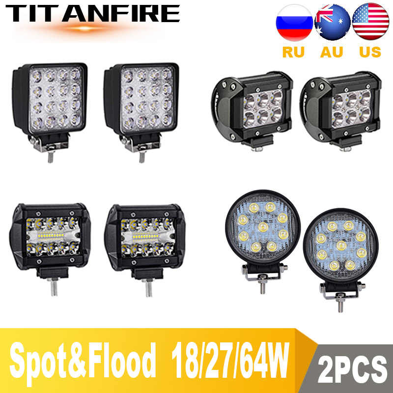 TF30 4inch 6inch 18W 27W 48W 64W LED Light Bar Work Light 4WD Truck Tractor Boat Trailer 4x4 SUV ATV 12V 24V Flood/Spot Off Road