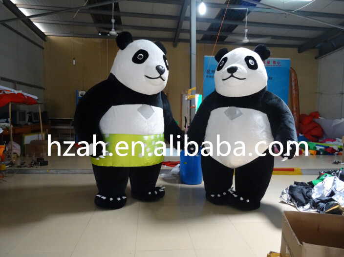 Fat Inflatable Panda Couple Costums for Sale ao058m 2m hot selling inflatable advertising helium balloon ball pvc helium balioon inflatable sphere sky balloon for sale