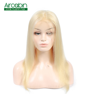Straight 613 Blonde Full Lace Human Hair Wigs With Baby Hair Remy Hair Indian Wig Pre Plucked Hairline 130% Full Lace Blonde Wig