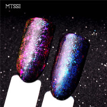 Mtssii 1Bottle Irregular Chameleon Effect Nail Glitter Shinning Powder Manicure Dust DIY Nail Art Decorations