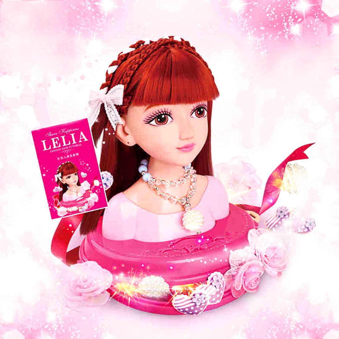 Укладка волос детский Макияж игрушка Кукла Реалистичная Парикмахерская Укладка волос игровой набор плетение практика ролевые игры игрушки для девочек-красный