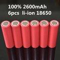 6 Шт./лот Оригинальный литий-ионная 18650 DBHE2 3.7 В Батареи 2600 мАч высокого стока DBHE2 18650 батареи сигареты электроинструмент