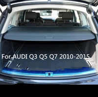 High Qualit Rear Trunk Cargo Cover Security Shield Screen shade For AUDI Q3 Q5 Q7 2010 2015 BY EMS